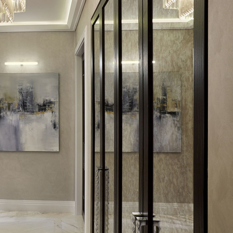 Mirrored hall cupboards