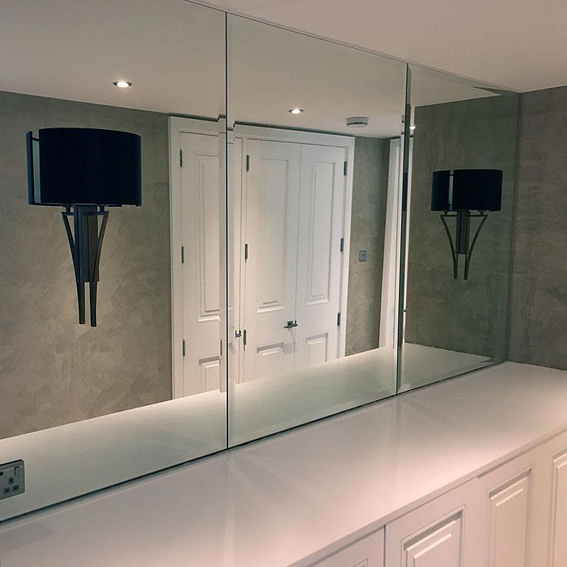 Bespoke bathroom mirror