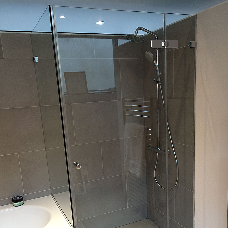 Bespoke frameless glass shower