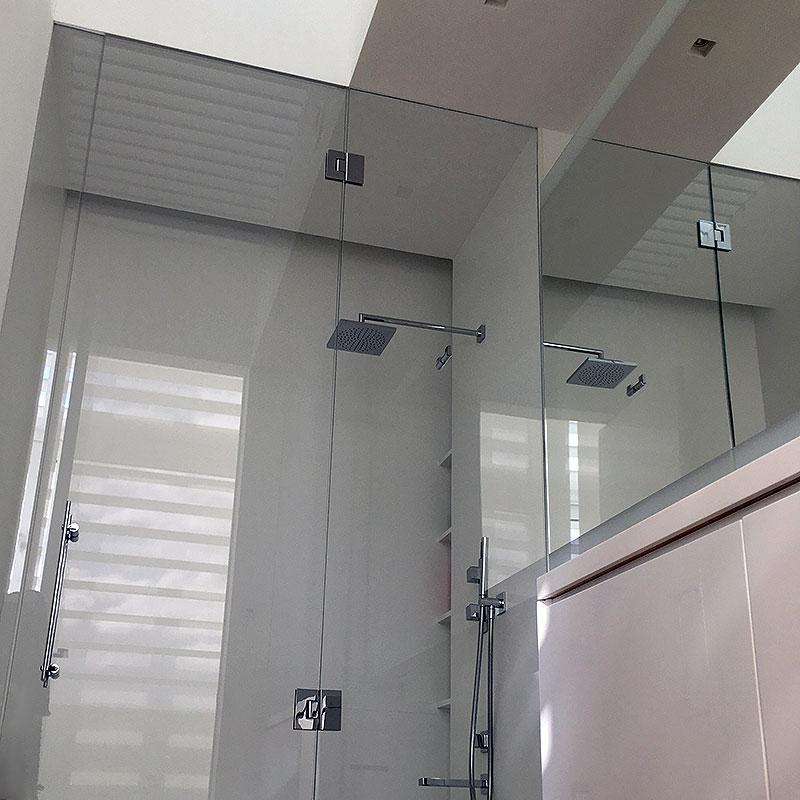Bespoke frameless glass shower enclosure in Hampstead