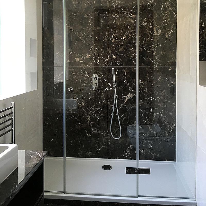 A glass frameless shower in Knightsbridge