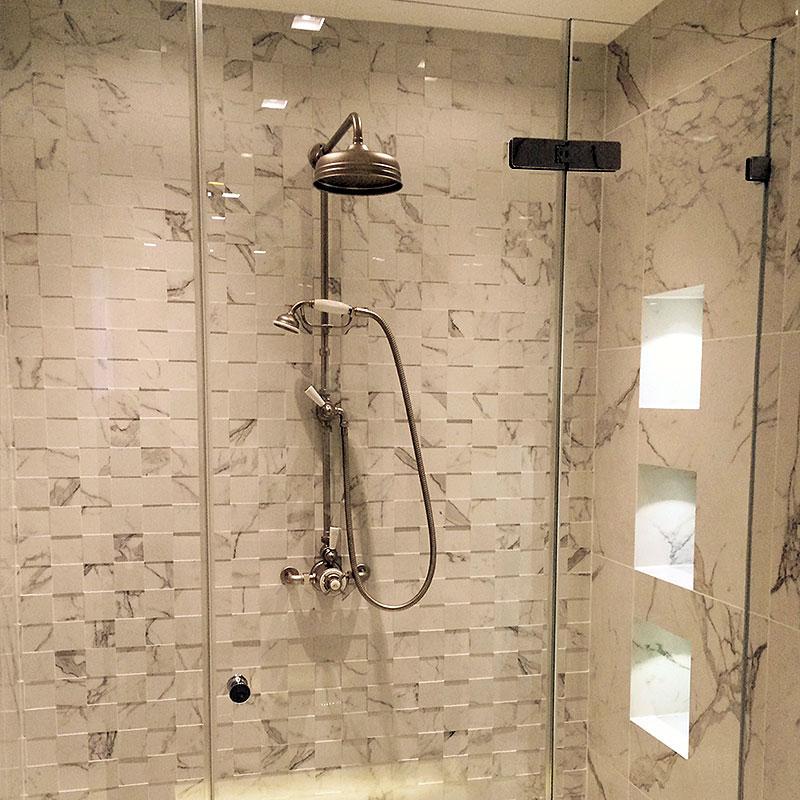 Bespoke frameless glass wet room enclosure
