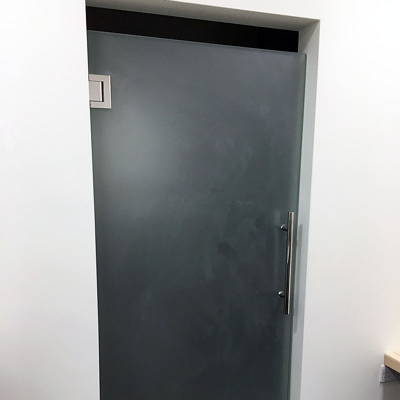 Frosted glass gym door in London