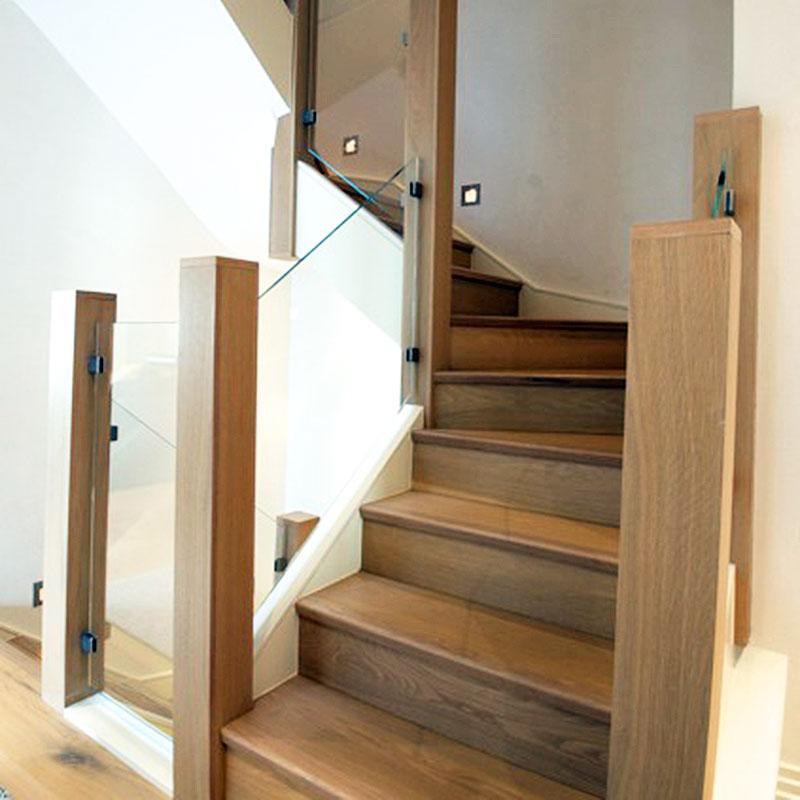 Interior glass balustrades in stairwell