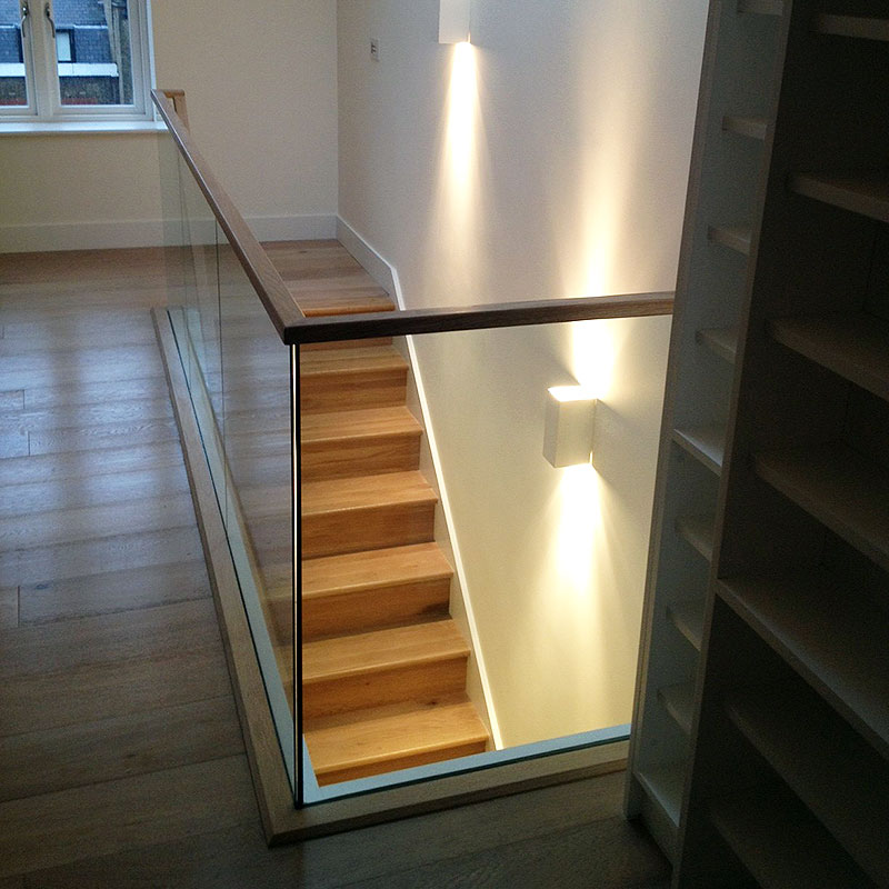 Glass balustrade in West London