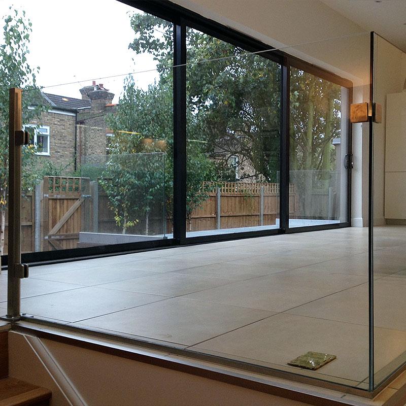 Glass balustrade in London