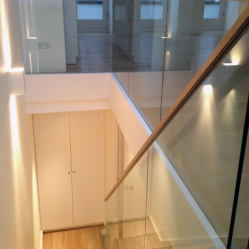 Glass balustrades in the West End