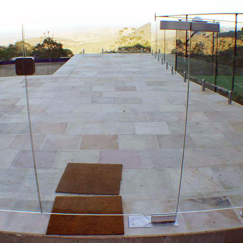 Glass balustrades around a pool in South Africa