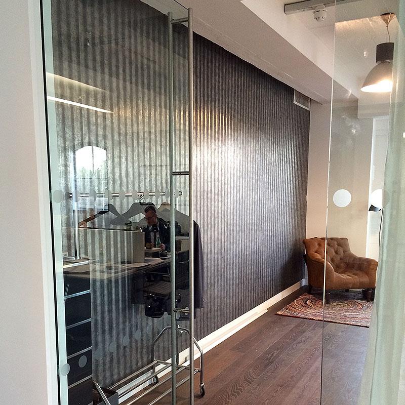 Glass office door in London