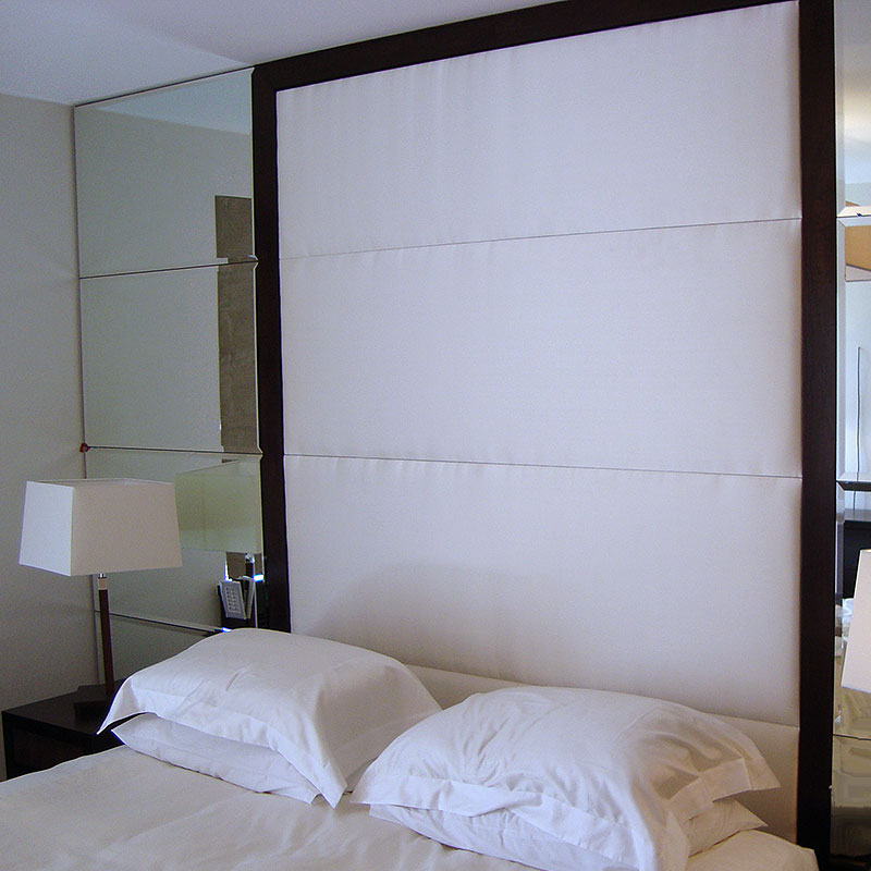 Mounted bedside mirrors