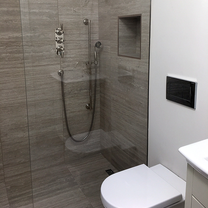 Bespoke frameless shower glass