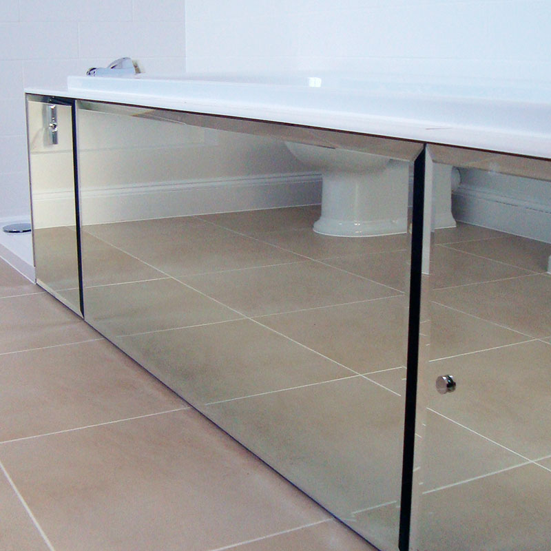 Mirrored bathroom cabinets