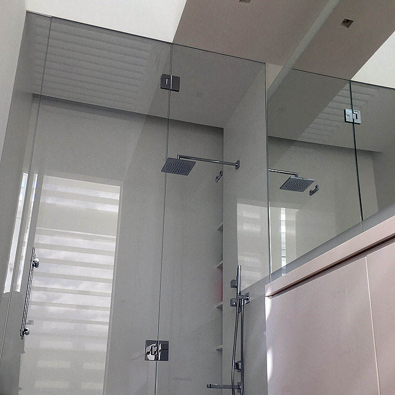Bespoke frameless glass shower enclosure in Hampstead