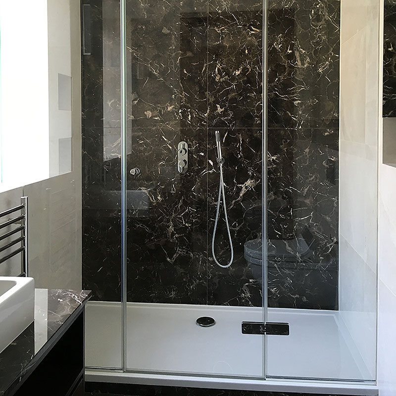 A glass frameless shower in Knightsbridge