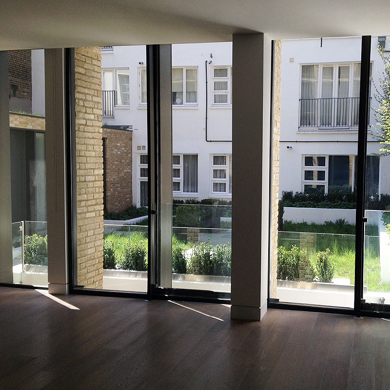 Glass balustrade in London