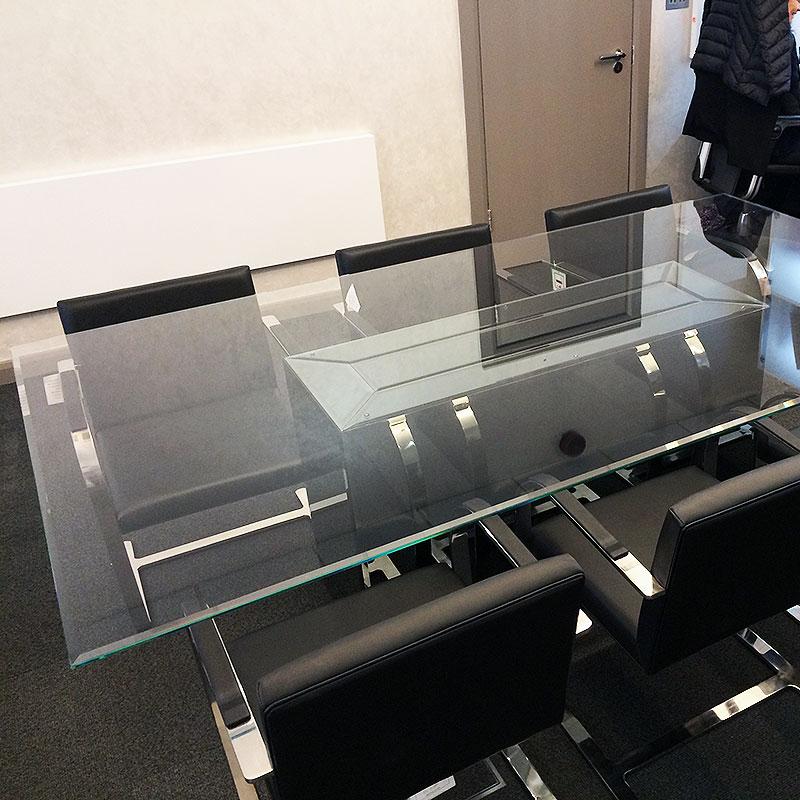 Bespoke glass boardroom table