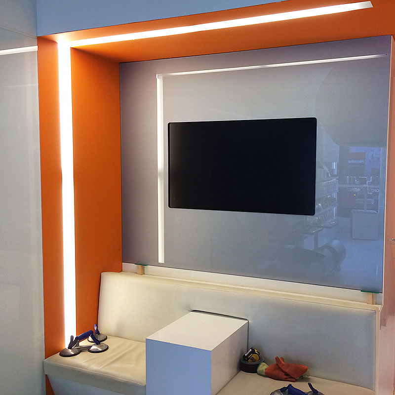 Glass television surround
