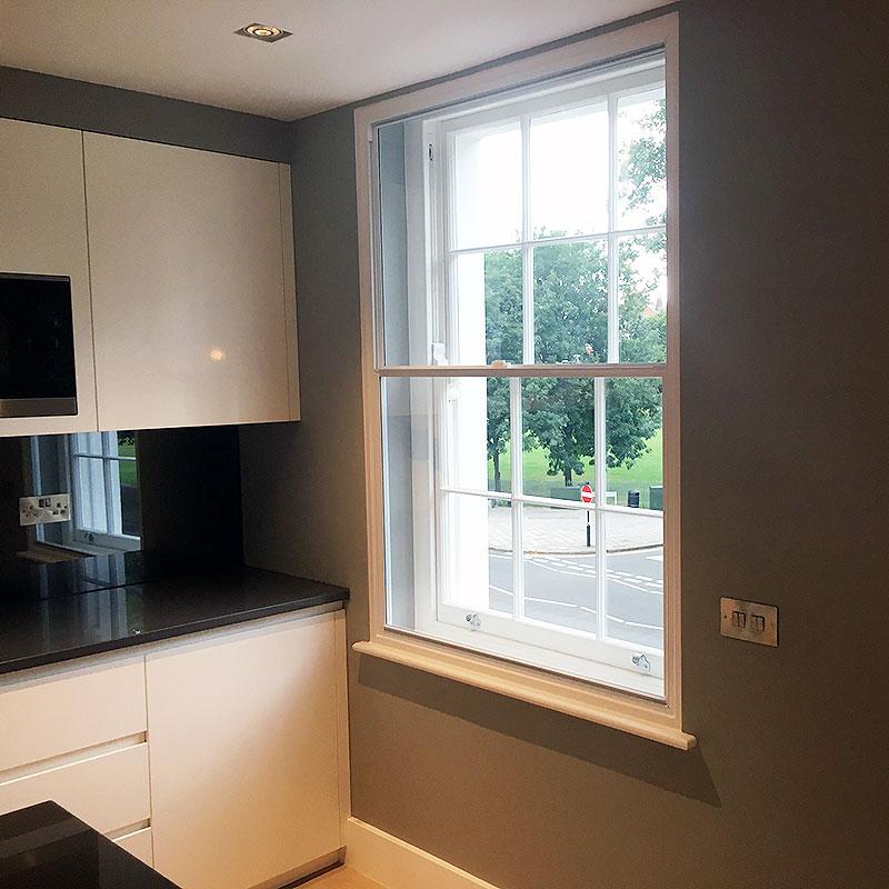 Secondary glazing installation in London